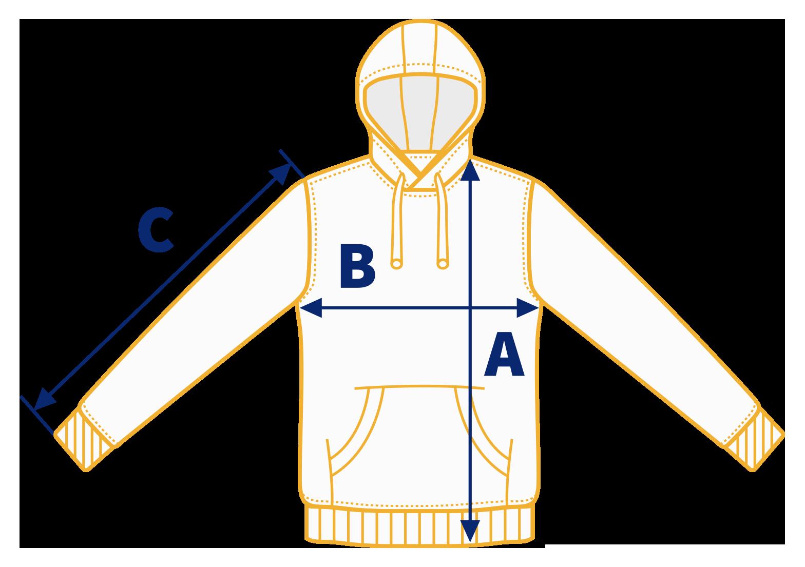 Rara Avis Store - Hooded Sweatshirt Size Chart