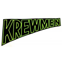 "KREWMEN - EMBROIDERED BACKPATCH ""GREEN LOGO"""