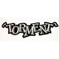 "TORMENT - ESPALDERA ""WHITE LOGO"""
