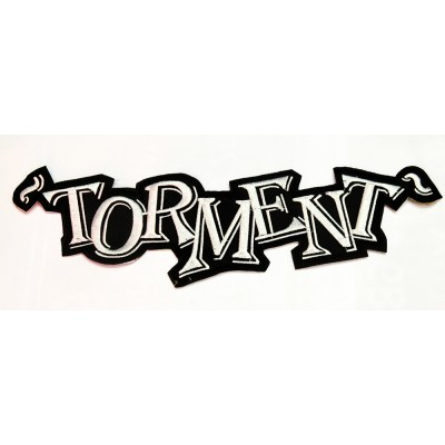 "TORMENT - EMBROIDERED BACKPATCH ""GREEN LOGO"""