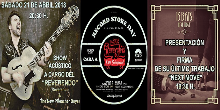 Record Store Day 2018 - Sábado 21 de Abril
